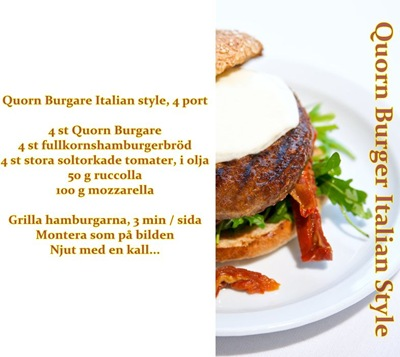 Quorn Burger Italian Style_