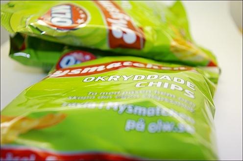 Okryddade chips