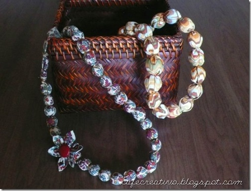 Fabric Necklace 1