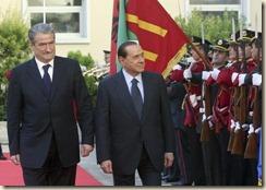 Sali Berisha e Silvio Berlusconi