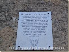 Iscrizione di Palazzo Adriano