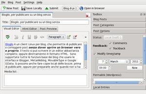 Blogilo: Un editor de blogging para KDE