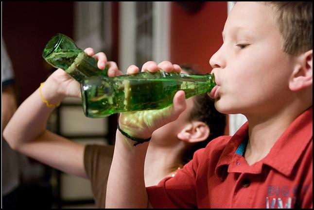 Austin drinking sprite blog