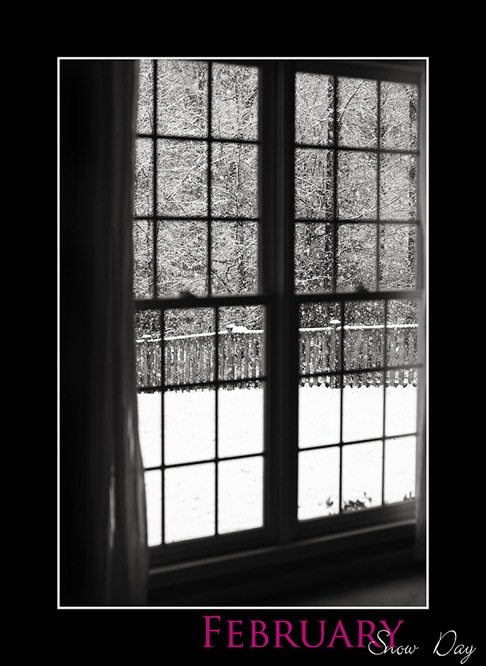 February Snow Day black and white blog