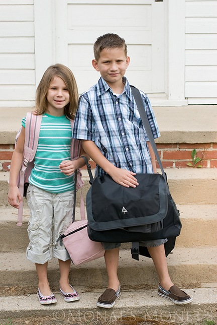 Austin and Brooke first day of school blog
