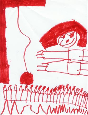Erika drawing of tire swing