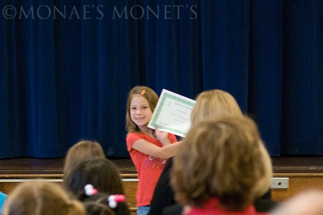 Brooke showing award