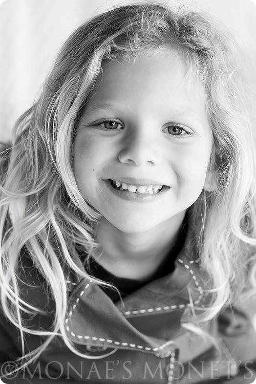 Erika 6 year black and white blog