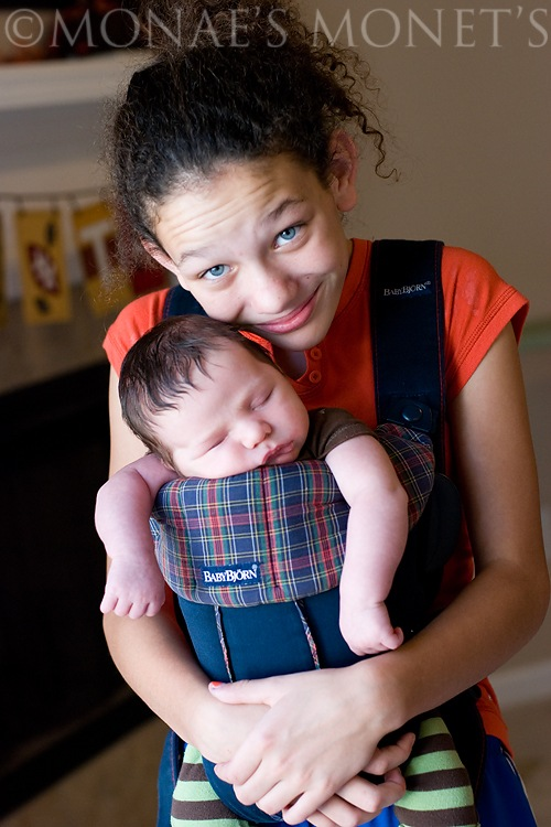 Brianna with Ryan in bjourn blog
