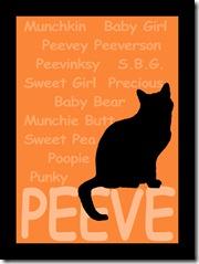 Peeve artwork black frame