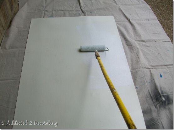 Do it yourself how to make a hand painted floor cloth for Painted vinyl floor cloth