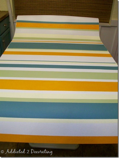 hand painted floor cloth 9