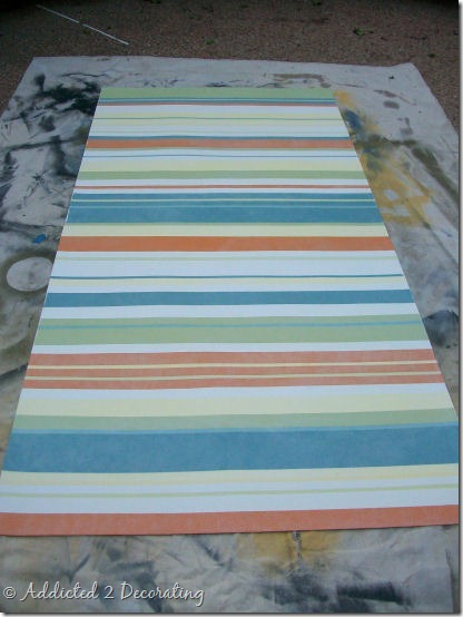 hand painted floor cloth 20