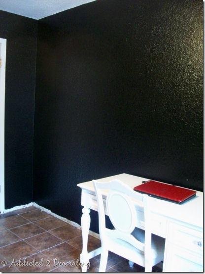 office walls black