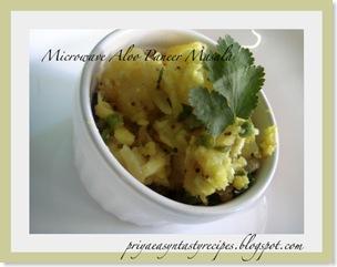 Priya- Aloo paneer masala