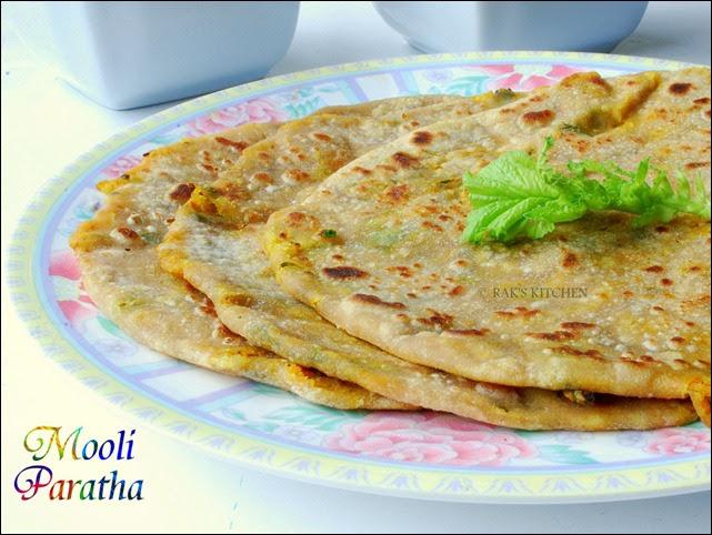 Mooli paratha recipe (Stuffed version) - Raks Kitchen