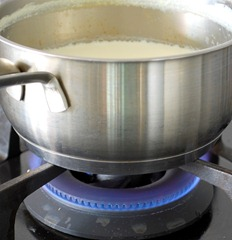 Boil milk
