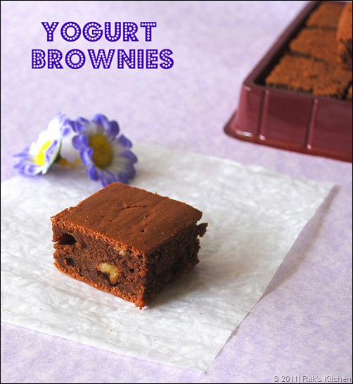 Yogurt brownies,without egg