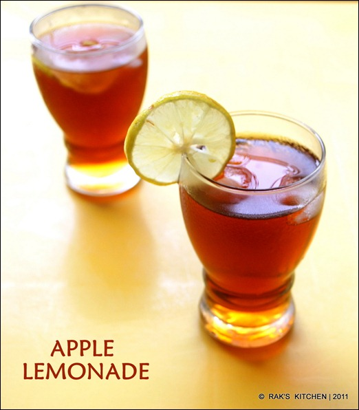 APPLE LEMONADE - Raks Kitchen