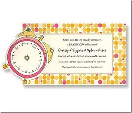Around the clock Bridal Invite 1