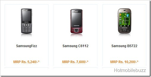Dual sim Samsung mobile phones