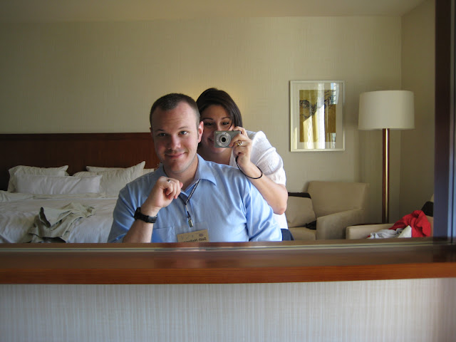 Seth and Andrea in their fancy hotel room