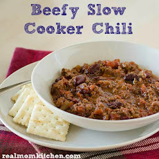 Beefy Slow Cooker Chili