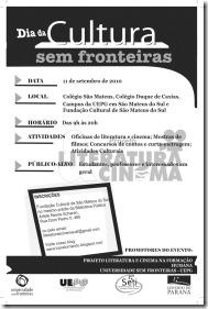 1- Cartaz Cultura sem fronteiras 2010