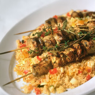 Grilled Pork Skewers with Couscous