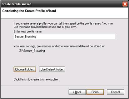 Mozilla FireFox Secure Profile