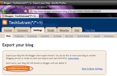 Blogger Download Blog