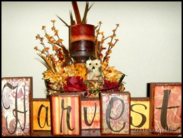 Micki centerpiece with Harvest blocks