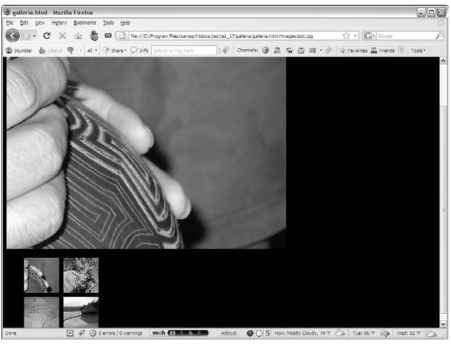 The galleria plugin automatically turns a list of images into a gallery.
