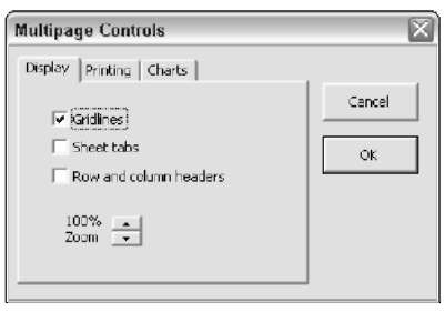 This dialog box uses a MultiPage control.