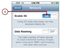 Next to Enable 3G,tap ON.