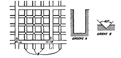 Form of grooving for lapping plates