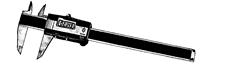 Electronic digital caliper.