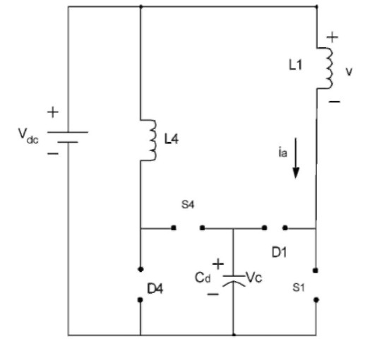 Equivalent circuit when all switches and diodes are off.