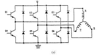 Trapezoidal torque and current waveforms: (a) typical 3/0 brushless motor inverter,