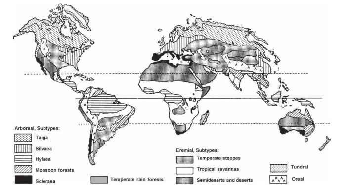 Biogeographical patterns insects scientists differentiate and subdivide biomes to different degrees some clearly distinct and almost universally recognized biomes are briefly sciox Choice Image