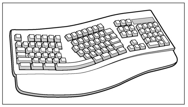 Line Drawing Keyboard : Incredible input keyboards trackballs joysticks and