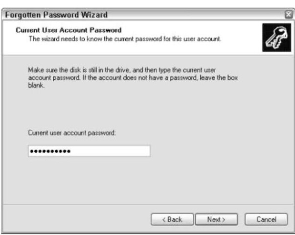 You must supply the password in order to create the disk.