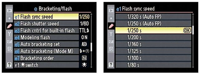 Through this option, you can enable high-speed flash, permitting a faster maximum shutter speed for flash photos.