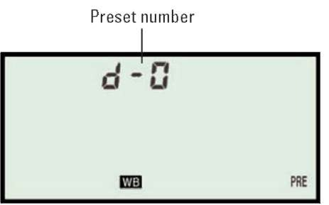 Preset d-0 is always used for the most recent direct-measurement preset.