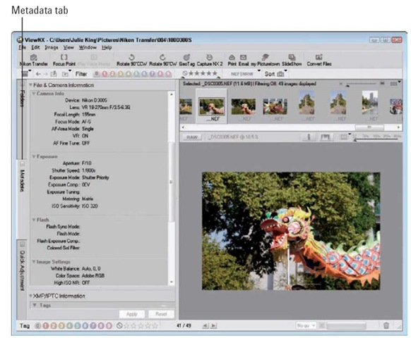 Inspecting metadata is a great way to see what settings work best for different subjects and lighting conditions.