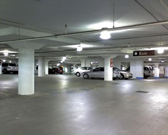 Underground parking lot at Square One