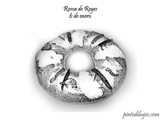 una imagen para colorear de la rosca de reyes, espero y les ayude en ...