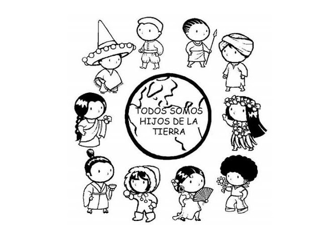 Children of the World - free coloring pages