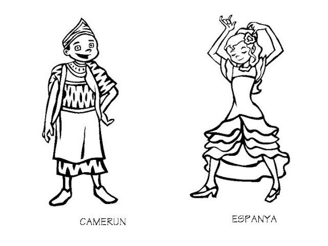 Outfits of Cameroon and Spain