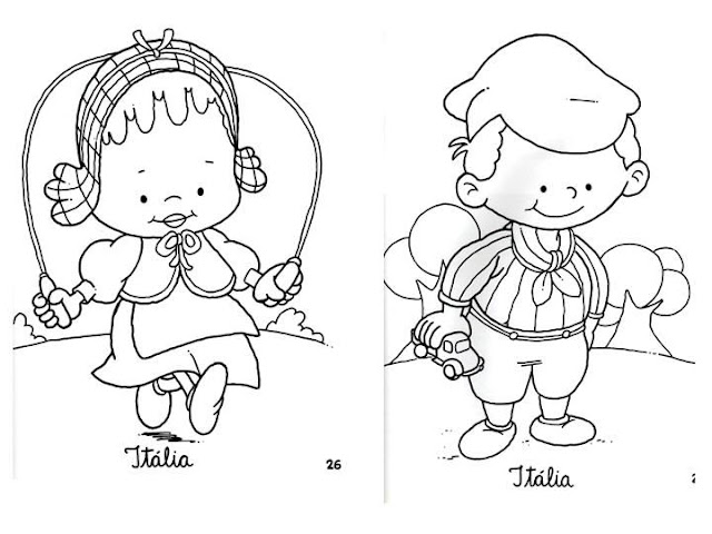 Outfit of Italy, free coloring pages